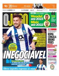capa Jornal O Jogo de 6 janeiro 2018