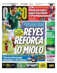 capa Jornal O Jogo de 7 setembro 2017