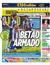 capa Jornal O Jogo de 10 setembro 2017
