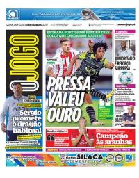 capa Jornal O Jogo de 13 setembro 2017