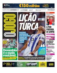 capa Jornal O Jogo de 14 setembro 2017