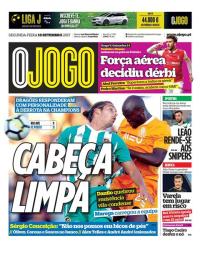 capa Jornal O Jogo de 18 setembro 2017