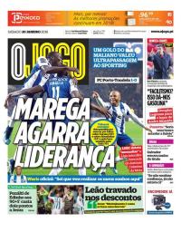 capa Jornal O Jogo de 20 janeiro 2018