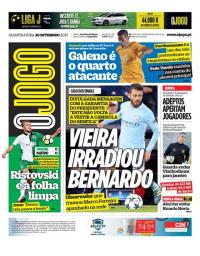 capa Jornal O Jogo de 20 setembro 2017