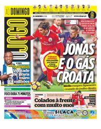 capa Jornal O Jogo de 21 janeiro 2018