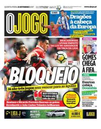 capa Jornal O Jogo de 21 setembro 2017