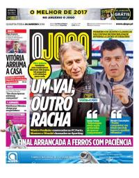 capa Jornal O Jogo de 24 janeiro 2018