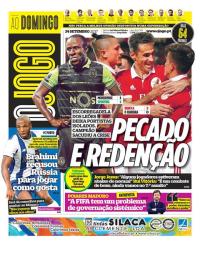 capa Jornal O Jogo de 24 setembro 2017