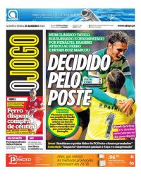 capa Jornal O Jogo de 25 janeiro 2018