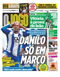capa Jornal O Jogo de 26 janeiro 2018