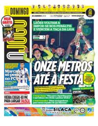 capa Jornal O Jogo de 28 janeiro 2018