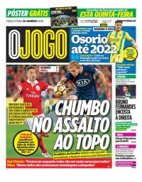 capa Jornal O Jogo de 30 janeiro 2018