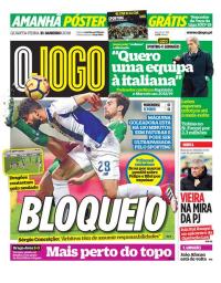 capa Jornal O Jogo de 31 janeiro 2018