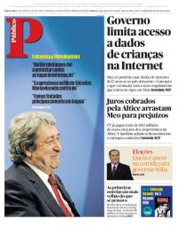 capa Público de 1 março 2018
