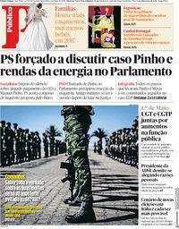 capa Público de 1 maio 2018
