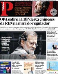 capa Público de 1 junho 2018