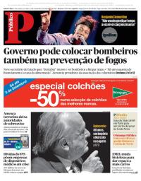 capa Público de 1 setembro 2017