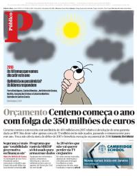 capa Público de 2 janeiro 2018