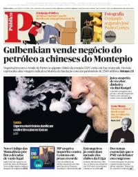capa Público de 2 fevereiro 2018