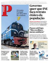 capa Público de 2 setembro 2017
