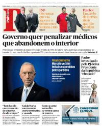 capa Público de 3 janeiro 2018