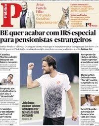 capa Público de 3 setembro 2018