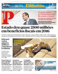 capa Público de 3 outubro 2017