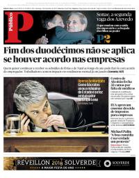 capa Público de 3 dezembro 2017
