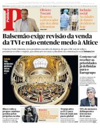 capa Público de 4 dezembro 2017