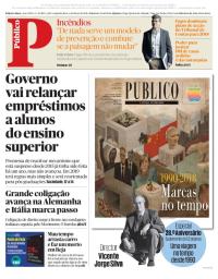 capa Público de 5 março 2018