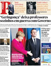 capa Público de 5 junho 2018