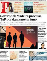 capa Público de 5 julho 2018
