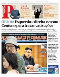 capa Público de 5 setembro 2017