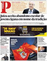 capa Público de 5 setembro 2018