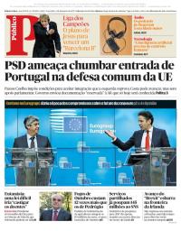 capa Público de 5 dezembro 2017