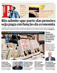 capa Público de 6 janeiro 2018
