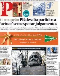 capa Público de 6 maio 2018
