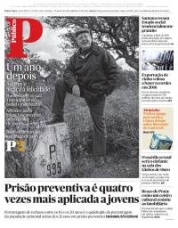 capa Público de 7 janeiro 2018