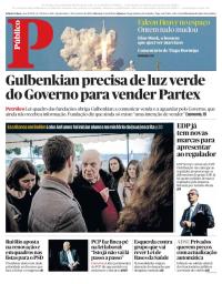 capa Público de 7 fevereiro 2018