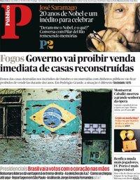 capa Público de 7 outubro 2018