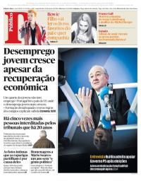 capa Público de 8 janeiro 2018