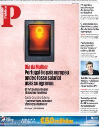 capa Público de 8 março 2018