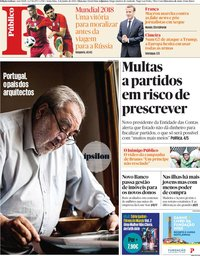capa Público de 8 junho 2018