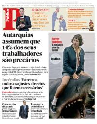 capa Público de 8 dezembro 2017