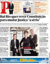 capa Público de 9 março 2018