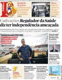 capa Público de 9 junho 2018