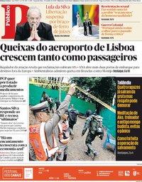 capa Público de 9 julho 2018
