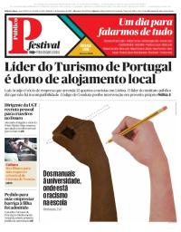 capa Público de 9 setembro 2017