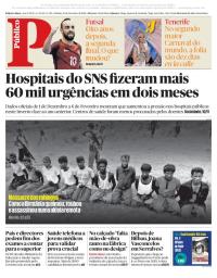 capa Público de 10 fevereiro 2018