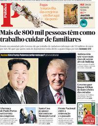 capa Público de 10 março 2018